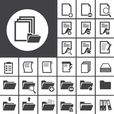 documents: folder and paper icon