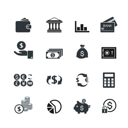 bond: Financial management flat icons Illustration