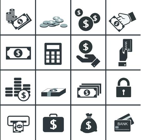 money icons: Money icons set