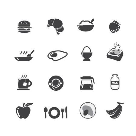 breakfast cereal: breakfast icons