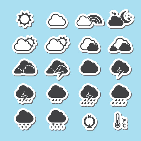 cloudy night sky: Weather Icon Illustration