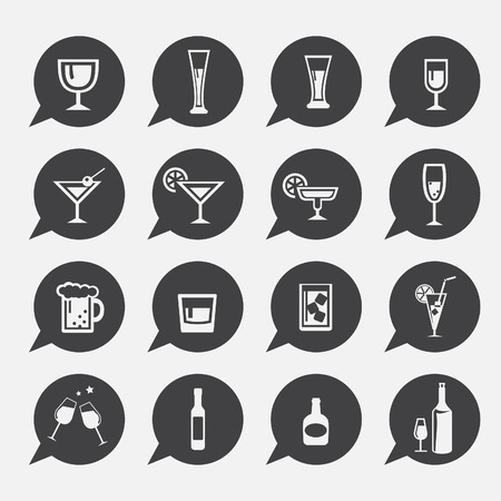 drinks: vector.drink icon set