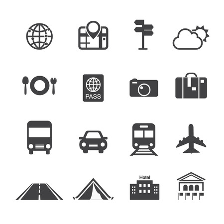 travel & transport icons Vector