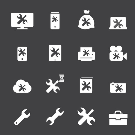 wrench icons set Vector