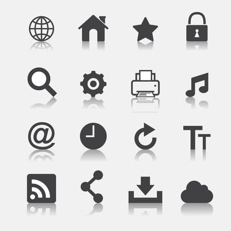 web icon set Vector