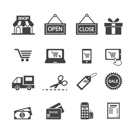 open car: shopping icon