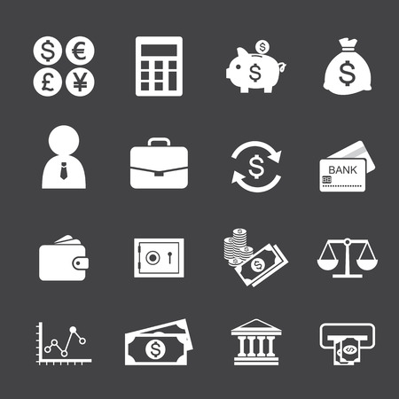 measures: Finance and money icon set