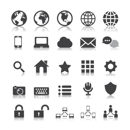 internet and communication icon Vector