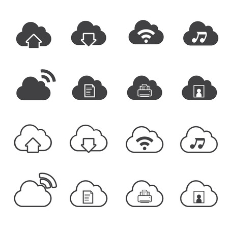 datacenter: Cloud Computing Icons set