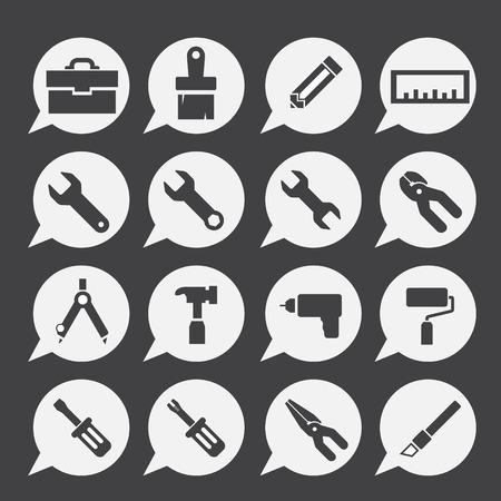 hardware: icono de conjunto de herramientas Vectores