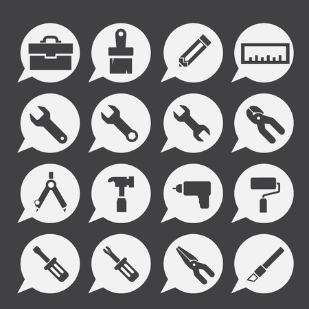 hardware: tools icon set