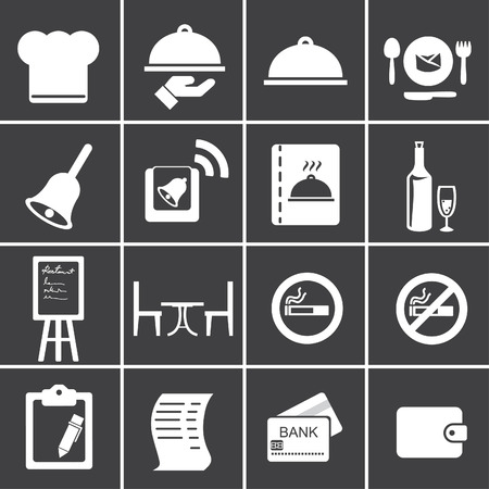pay bill: Restaurant icons