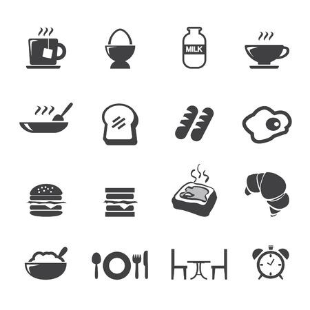 breakfast plate: breakfast icons