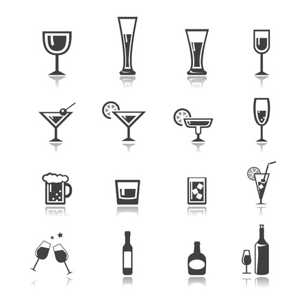 whisky glass: vector.drink icon set