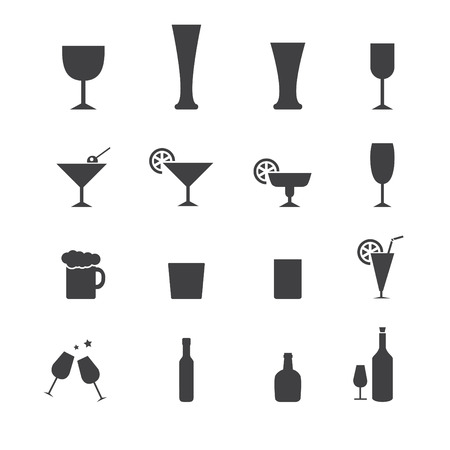 cocktail drinks: vector.drink icon set