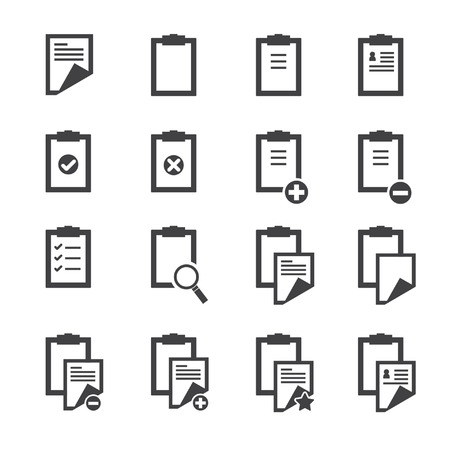 clipboard: Clipboard icons