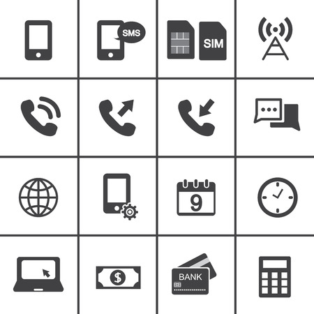 account management: Mobile account management icons