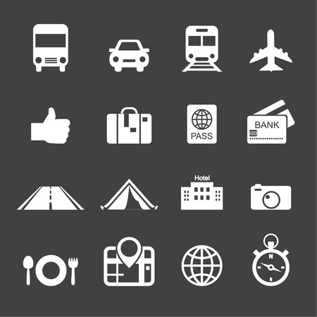 excursions: Traveling and transport icons Illustration