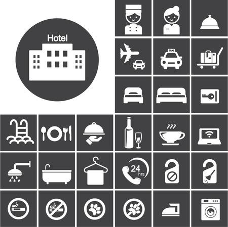 hotel icon set Vector