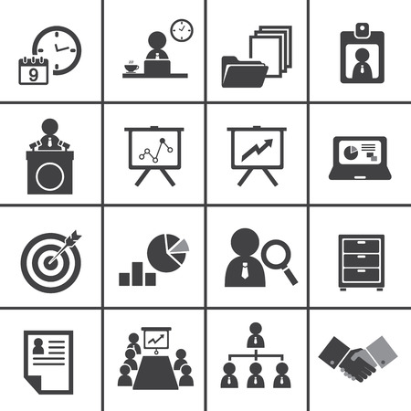 organization and business management icon set