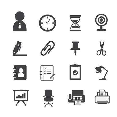 Business Icons and Office Icons Vector