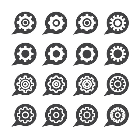 sprocket: Settings icon set Illustration