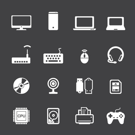 network cable: computer icon set