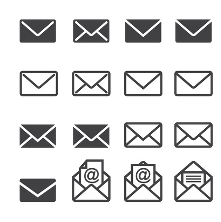 email icon: mail icon set