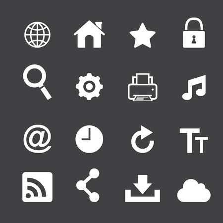 master page: web icon set
