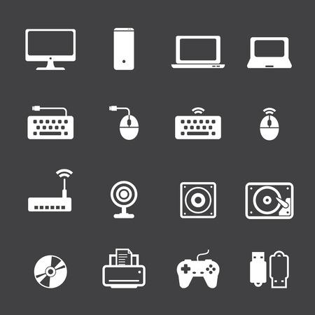 notebook computer: computer icon set