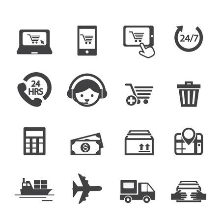 online icon: shopping online icon Illustration