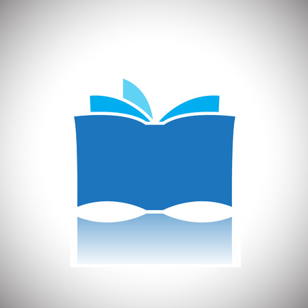 person reading: book icon Illustration