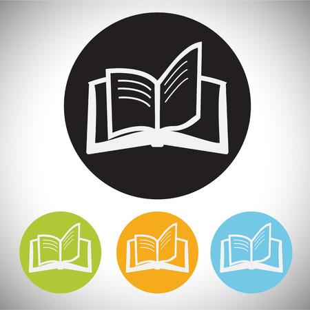 audio book: book icon Illustration