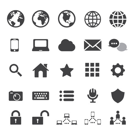 keyboard: internet and communication icon