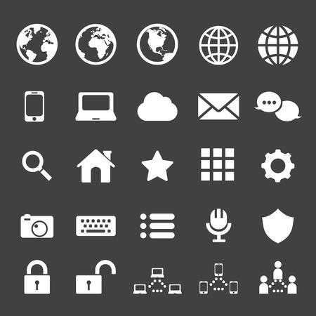 icono comunicacion: Internet y la comunicaci�n icono