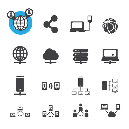 notebook computer: network icon