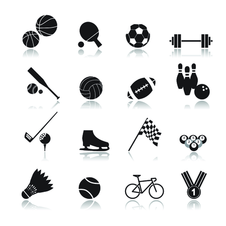 racing bicycle: sport icon set
