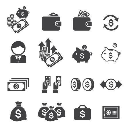 dollaro: denaro icona Vettoriali
