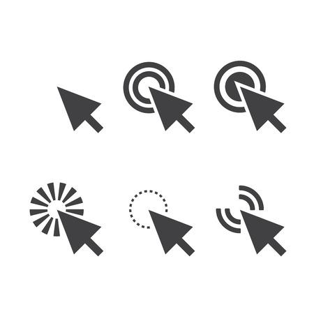 mouse click: click icon
