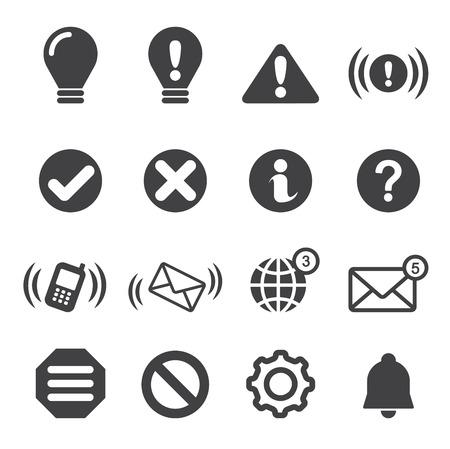 dismiss: notification icons Illustration