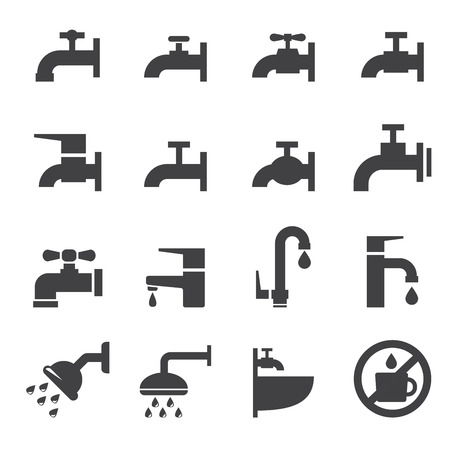 sanitary engineering: faucet icon