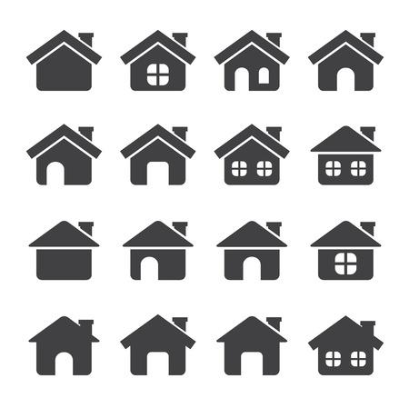 huispictogram Stock Illustratie