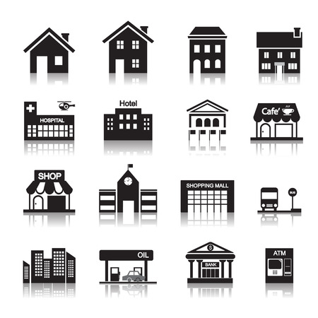 building site: building icon Illustration