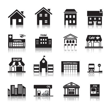 Gebäude-Symbol Standard-Bild - 32817052