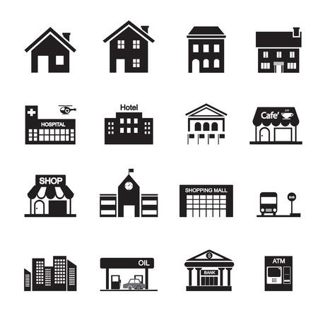 construccion: edificio icono de