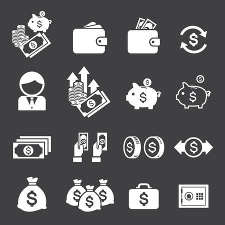 briefcase icon: money icon