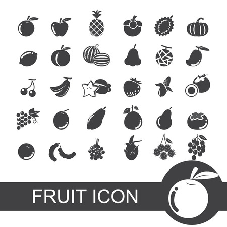 lychee: fruit icon Illustration