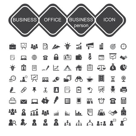 business office and business person icon Vector