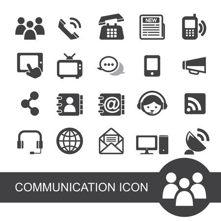 media center: communication icon