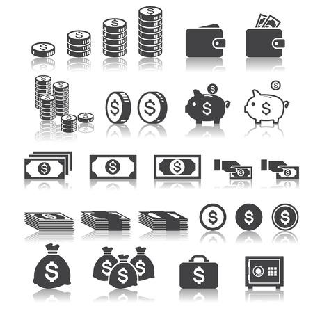 Icône de l'argent Vecteurs